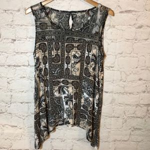 DANA BUCHMAN SLEEVELESS BLOUSE